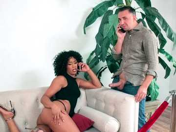 Raunchy black girl Misty Stone is put in order by interracial ass licking